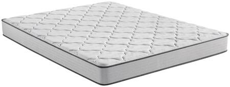 BR Foam 700810002-1060 King Size Medium 7.5″H Mattress with 1/2″ Plush Comfort Foam  1/2″ Firm Comfort Foam  and Firm Support