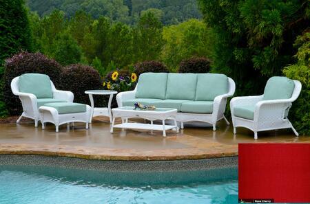 Tortuga Sea Pines LEX651WRAVEC Outdoor Patio Set White, LEX651WRAVEC Main Image
