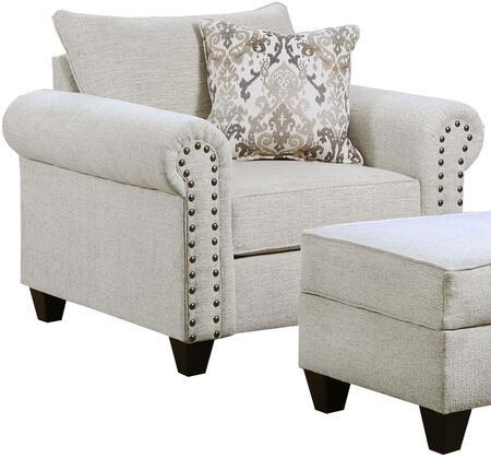 Lane Furniture Della 9175BR01DELLALINEN Living Room Chair White, Armchair