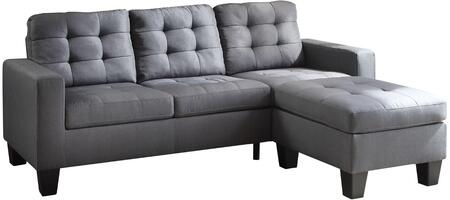 Acme Furniture Earsom 52775 Sectional Sofa Gray, 1