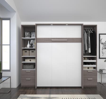 Bestar Furniture Cielo 8089347 Bed Multicolor, Main Image