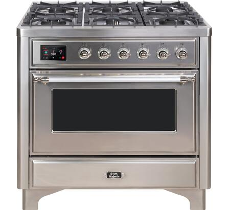 UM09FDNS3SSC 36″ Majestic II Series Dual Fuel Natural Gas Range with 6 Burners and Griddle  3.5 cu. ft. Oven Capacity  TFT Oven Control Display