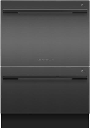 Fisher Paykel 7 Series DD24DDFTB9N Built-In Dishwasher Black Stainless Steel, Front View