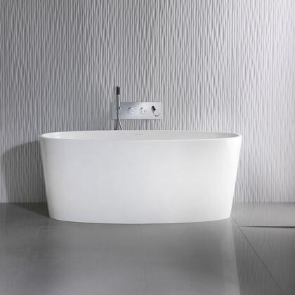 IOS IOSM-N-SM-NO 59″ Freestanding Bathtub without Overflow  in