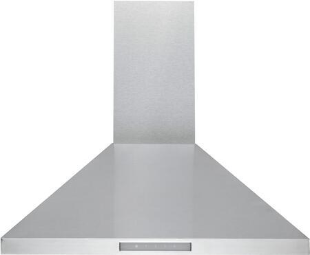MVW206B36SS 36″ Wall Mount Range Hood with 600 CFM  Perimeter Ventilation  LED Panel Lighting  Heat Sensor  in stainless