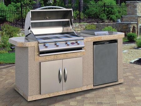 Cal Flame  LBK701 Outdoor Kitchen Island Stainless Steel, Main View