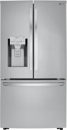 """LRFXC2416S 36"""" Stainless Steel Counter Depth French Door Refrigerator with 23.5 cu. ft. Capacity Smart Cooling Plus System Ice & Water Dual Ice"""
