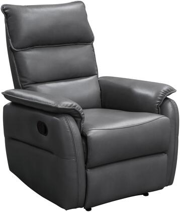 """Walsh_Collection_WALSHRCHGR_32""""_Recliner_with_Air_Leather_Upholstery__Pillow_Top_Armrests_and_Waterfall_Back_Design_in"""
