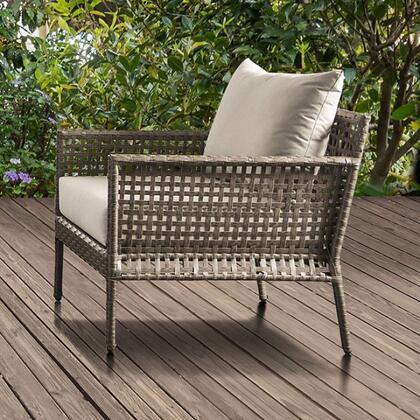 Furniture of America Aleisha CMOS2589CH Patio Chair Gray, cm os2589 ch 1