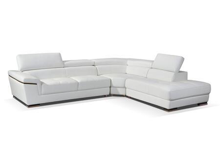 ESF I17279 Sectional Sofa White, Main Image