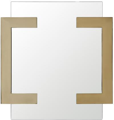 Sumo Collection MR1658-GLD 35″ x 35″ Mirror with Square Shape and Polished Stainless Steel Frame in Gold