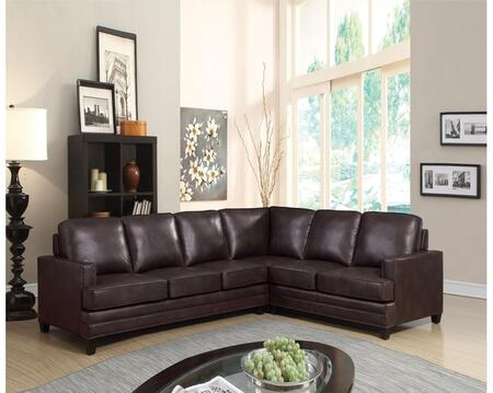 Acme Furniture Bevin 53380 Sectional Sofa Brown, 1