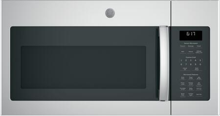 GE  JVM6175SKSS Over The Range Microwave Stainless Steel, Front View