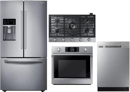 Samsung  1011336 Kitchen Appliance Package Stainless Steel, Mmain Image