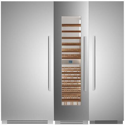 Bertazzoni  1309162 Column Refrigerator & Freezer Set Stainless Steel, 1