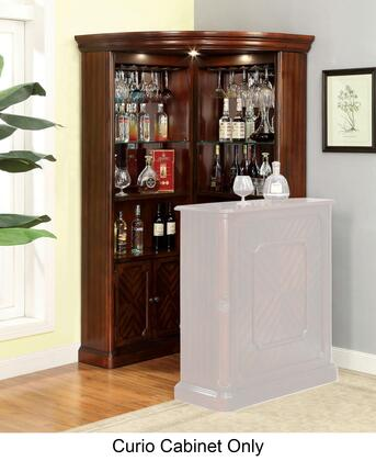 Furniture of America Voltaire CMCR142CURIO Curio Cabinet Brown, Main Image
