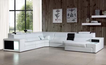 VIG Furniture Divani Casa Polaris VGEV5022BNDWHT Sectional Sofa White, Main Image