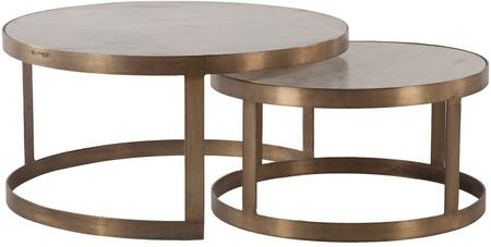 World Interiors Leonardo ZWLOCT36WMAB Coffee and Cocktail Table, ZWLOCT36WMAB Front