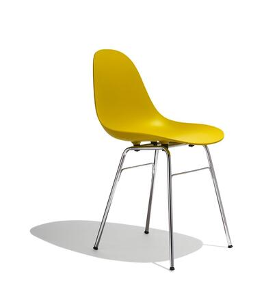 TA Collection TO-1711M-1502C Upholstered Side Chair/Er Base Chrome/Mustard