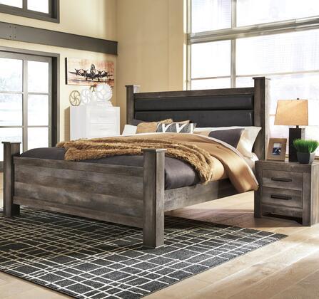 B440QPBBEDROOMSET 2-Piece Bedroom Set with Queen Size Panel Bed + Single Nightstand  in