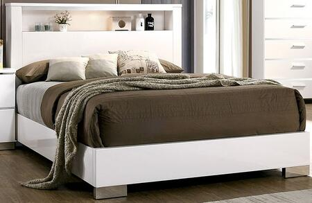 Furniture of America Malte CM7049WHXBED Bed White, 1