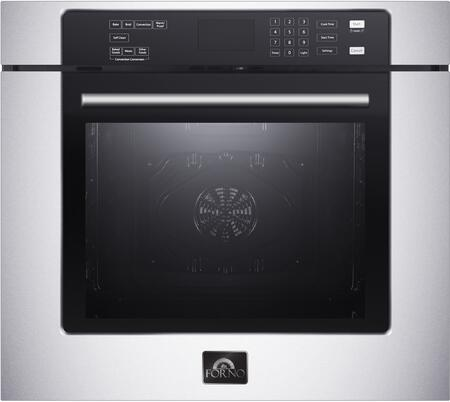 FBOEL1358-30 30″ Villarosa Single Wall Oven with 5 cu. ft. Capacity  Convection Fan and Self Clean in Stainless