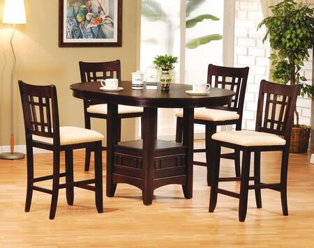 Acme Furniture Lugano 07675CH Dining Room Set Brown, 1
