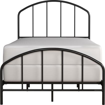 Tolland Collection 2587-330 Metal Twin Bed with Arched Spindle Design and Fully Welded Construction in