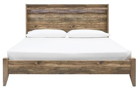 Signature Design by Ashley Rusthaven B3225856 Bed Brown, Front View