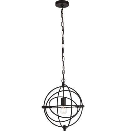 LD6002D14BK Colby 1 Light 14 inch Black Pendant Ceiling