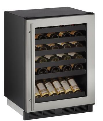U-Line Wine Captain 1000 U1224WCS00B Wine Cooler 26-50 Bottles Stainless Steel, Main Image