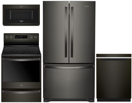 Whirlpool  1010002 Kitchen Appliance Package Black Stainless Steel, main image