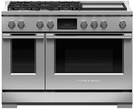 """RDV3-485GD-N 48"""" Professional Series Stainless Steel Dual Fuel Natural Gas Range with 5 Sealed Dual Flow Burners Griddle Self-Cleaning and 6.9 cu."""