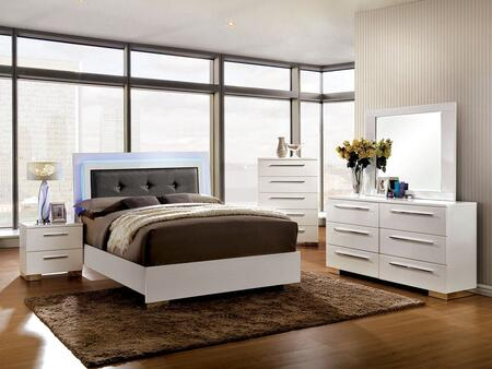 Furniture of America Clementine CM7201QBDMCN Bedroom Set White, Main Image