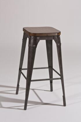 5733-832 Morris 30 Backless Bar Stool  with Nail Head Accents on Metal Frame in Dark Gray / Black