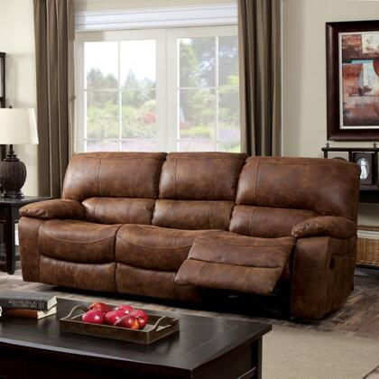 Furniture of America Wagner CM6315SF Motion Sofa Brown, Main Image