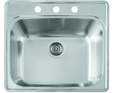 Blanco Essential 441400 Sink Stainless Steel, 441400 Essential laundry 3 Hole
