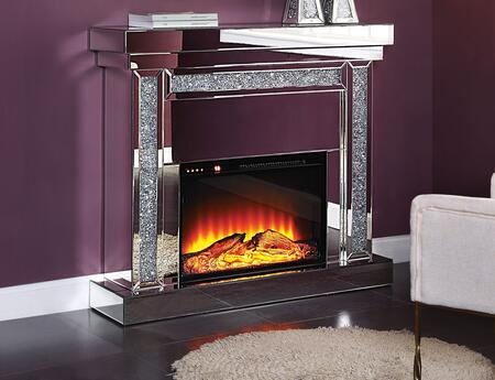 Acme Furniture Noralie 90470 Fireplace Silver, Fireplace
