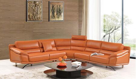 ESF I17369 Sectional Sofa Orange, 533SECTIONAL Main Image