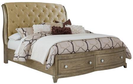 Global Furniture USA Global Furniture USA ATHENABEIGEX Bed Beige, 1