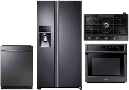 Samsung 1040022 Kitchen Appliance Package & Bundle Black Stainless Steel, main image