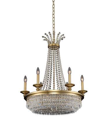 Tavo 033970-044-FR001 6-Light Chandelier in Winter Brass Finish with Firenze