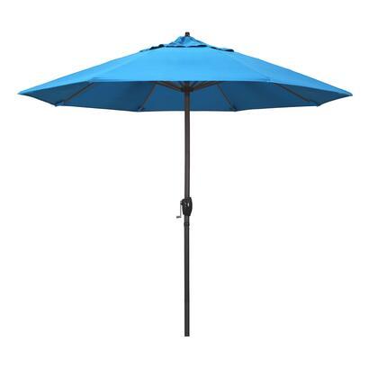 Casa Collection ATA908117-56105 9′ Patio Umbrella With Bronze Aluminum Pole Aluminum Ribs Auto Tilt Crank Lift With Sunbrella 2A Canvas Cyan