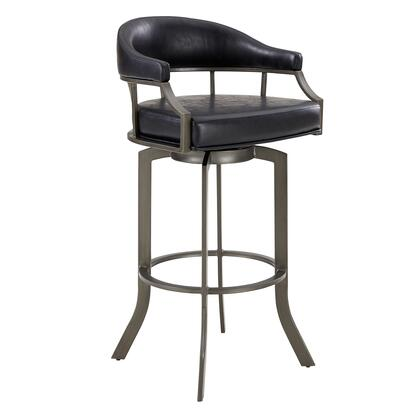 Armen Living Edy Series LCEDBAMFVB30 Bar Stool Black, LCEDBAMFVB30