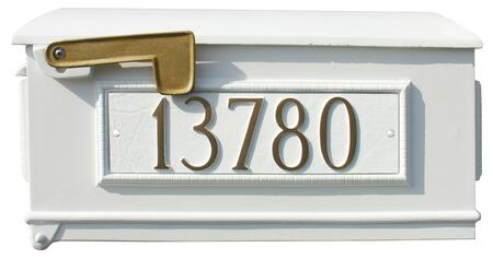 Qualarc Lewiston LM3PWHT Mailboxes, LM3P WHT