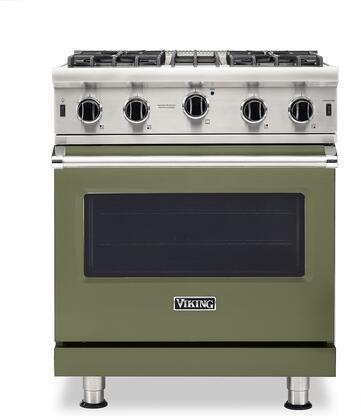 Viking 5 Series VGIC53024BCY Freestanding Gas Range Green, VGIC53024BCY Gas Range
