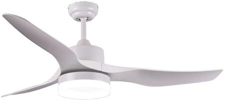 CF5100 52″ Modern Ceiling Fan with LED Lamp  Remote Control  Reversible Motor & Blades and 3 Speeds in