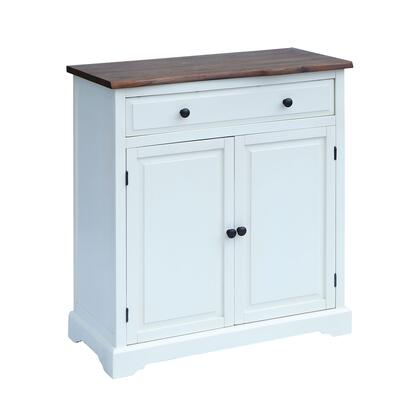 17207 Dunbar Cabinet  in White  Brushed Grey