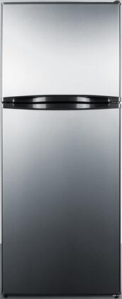 Summit FF1376SS Top Freezer Refrigerator Stainless Steel, Main Image