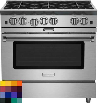 "BlueStar Platinum BSP366BLCF Freestanding Gas Range Custom Color, 36"" Platinum Series Range"
